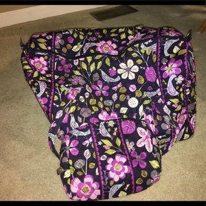 Vera Bradley travel duffel and makeup bag